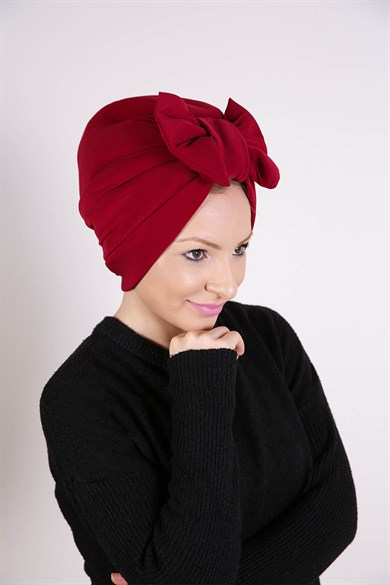 TURBAN À NŒUD BORDEAUX